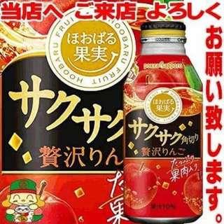 Pokka Sapporo サクサク角切り贅沢りんご 果實蘋果風味飲料-含果肉