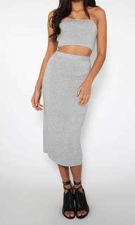 Peppermayo Grey Formal Dress Set