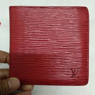 Louis Vuitton Epi Leather Red Wallet