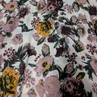H&M pashmina style floral scarf