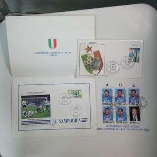 Sampdoria Stamps 森多利亞郵票及紀念封