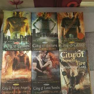 The Mortal Instruments by Cassandra Clare - Complete Set