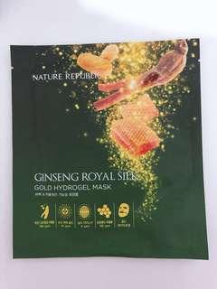 NATURE REPUBLIC Ginseng Royal Silk Gold Hydrogel Mask