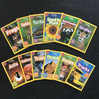 💥NEW-  National Geographic Level 1 - 12 books set 2 - Children learning books