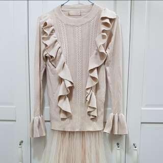 🚚 針織網紗洋裝set