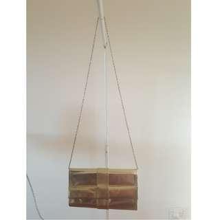 Gold Shoulder Bag for Occasion