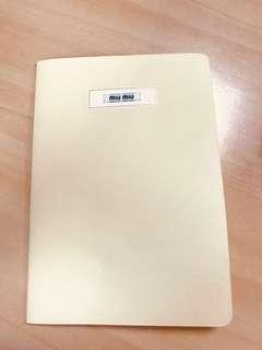BN authentic Miu Miu notebook
