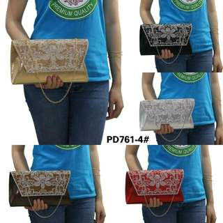 [CLUTCH PARTY HANDBAG PD761-4] Tas Fashion Wanita Impor Murah