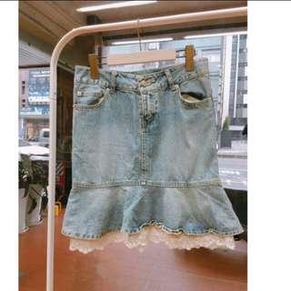🚚 Ingni蕾絲魚尾裙子 蕾絲可拆