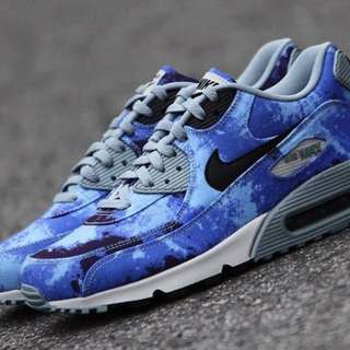 Nike Air Max 90 Bleached Blue Camo Persian 3 Tone Limited Edition Sneakers AUTHENTIC
