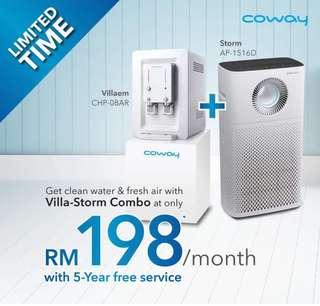 Coway Water and Purifier at RM198 only- LIMITED STOCKS