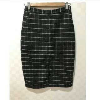 🚚 Pazzo格紋開衩窄裙