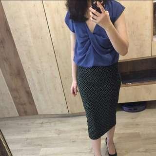 🚚 Zara全新鉛筆裙子 窄裙 格紋