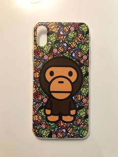 IPhone X Silicone Case 卡通 猿人 手機殻