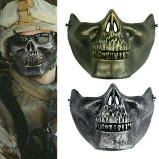 skull airsoft game hunting bike motorbike protect gear mask