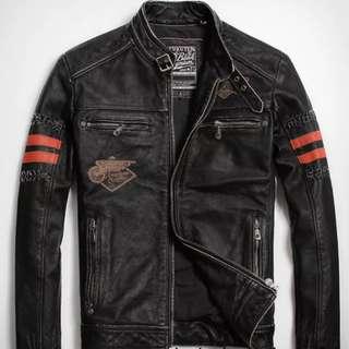 Leather Jacket (brandnew) 全真皮皮褸 (全新)