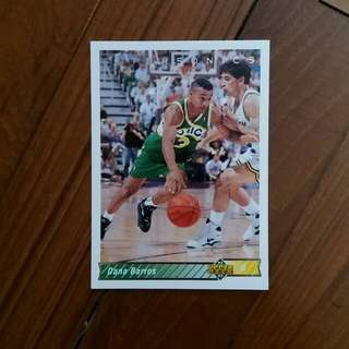 NBA Upper DECK 1992-1993 Seattle Supersonics Dana Barros 籃球卡