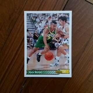 NBA Upper DECK 1992-1993 Seattle Supersonics Dana Barros 籃球卡