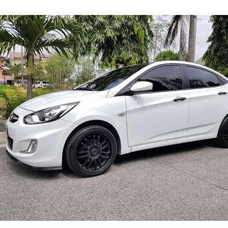 2014 Hyundai Accent White