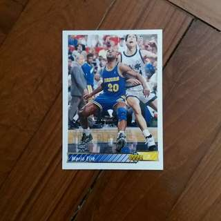 NBA Upper DECK 1992-1993 Golden State Warriors Mario Elie 籃球卡