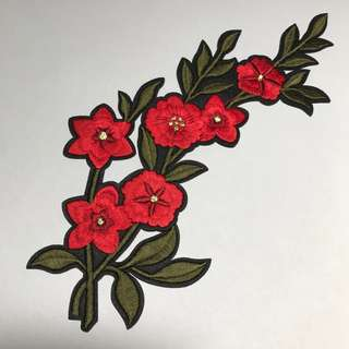 Iron on embroidery 🌸 Flower