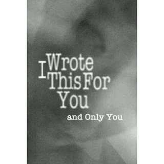 (Ebook) I Wrote this for you and only you - Lain S. Thomas