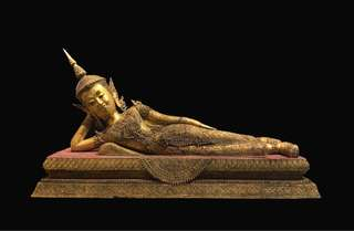 19th century Thai Rattana Reclining Buddha