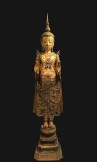19th century Thai Rattana Standing Buddha