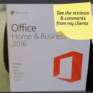 Microsoft Office 2016 for Windows or mac  (hardcopy)