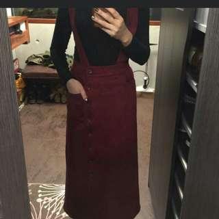 Marjorie麂皮洋裝