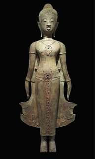 Antique Laos Standing Buddha