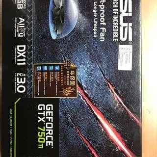 華碩顯示卡 GTX750TI-OC-2GD5。可議價