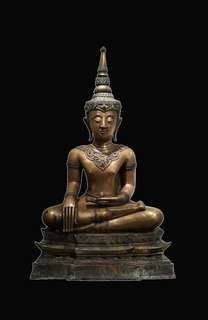 Antique Laos Seated Buddha