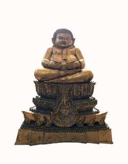 Ayutthaya Seated Happy Buddha