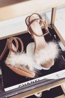 Meshki Fluffy Heels