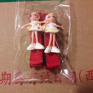 可愛娃娃造型髮夾(有粉和紅)