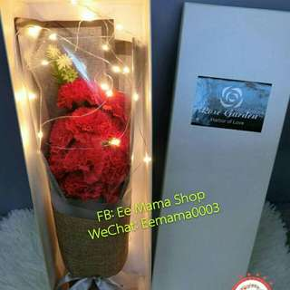 Carnation soap flowers 康乃馨手工香皂花