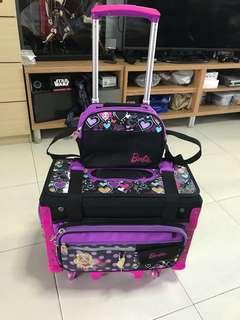 Barbie trolley bag school bag