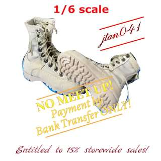 1:6 scale TOY SOLDIER Desert Boots (Tan). *Entitled to 15% storewide sales!