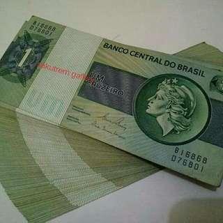 Uang Brasil UB UM Lama ORI/Dijamin ASLI Jual Pergepok Murmer