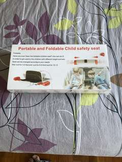Child safety seat portable and foldable