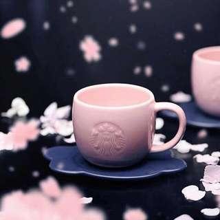 Starbucks Sakura Cherry Blossoms Mug with coaster