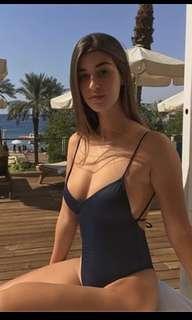 Black One piece Swimwear