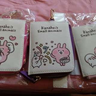 卡娜赫拉:零錢包票卡夾(桃、粉兩款)(有掛鉤可掛包包)