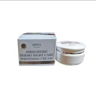 Night cream whitening pencerah dan pelembab