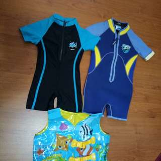 Thermal swimwear, swimsuit and vest