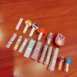 Random Wooden Clothespins