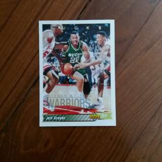 NBA Upper DECK 1992-1993 Bucks Jeff Grayer 籃球卡
