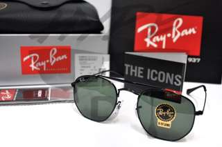 Authentic Ray Ban Marshal All Black RB3648 002 54