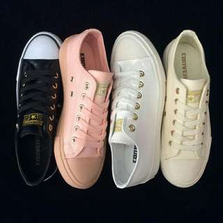 womens Nude converse shoes.